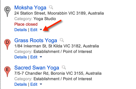 Edit your listing in Google Maps